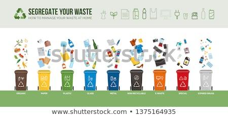 Recyklingu odpadów śmieci zarządzania starego papieru Zdjęcia stock © Lightsource