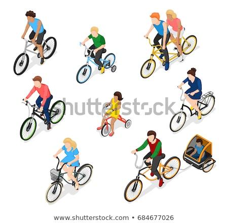 Rower rowerów szczegóły izometryczny wektora Zdjęcia stock © pikepicture