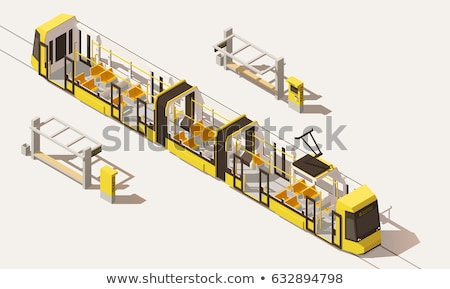 Public Transport Tramway isometric icon vector illustration Stock photo © pikepicture