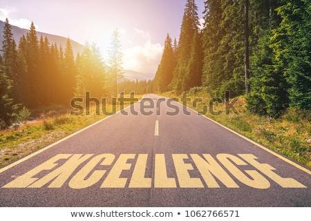 Obsługa klienta znak autostrady wysoki graficzne Chmura Zdjęcia stock © kbuntu