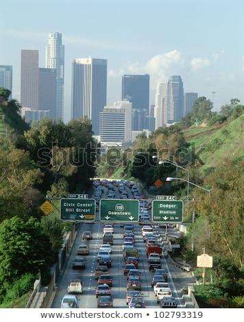 Лос-Анджелес шоссе знак высокий разрешение графических облаке Сток-фото © kbuntu