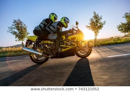motorfiets · dashboard · heldere · paars - stockfoto © morrbyte