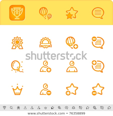award, rating and event icons Stock photo © kraska