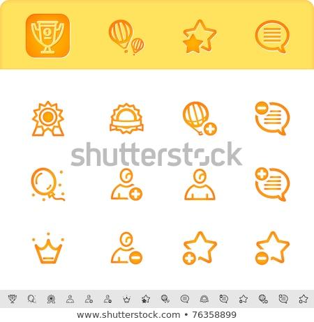 coroa · ícones · silhueta · seis · gráfico · jóias - foto stock © kraska