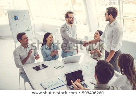 Two applauding businessmen Stock photo © Paha_L