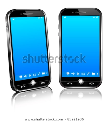 Stock photo: Cell Smart Mobile Phone 3D and 2D