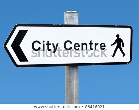 English city centre direction sign. Stock photo © latent