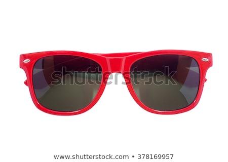 eski · plastik · çerçeve · gözlük · beyaz · moda - stok fotoğraf © prill
