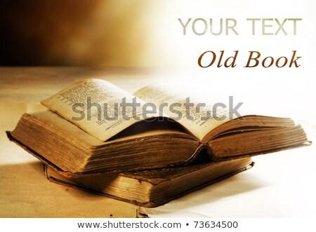 Starej książki książki student kościoła Biblii Zdjęcia stock © pterwort