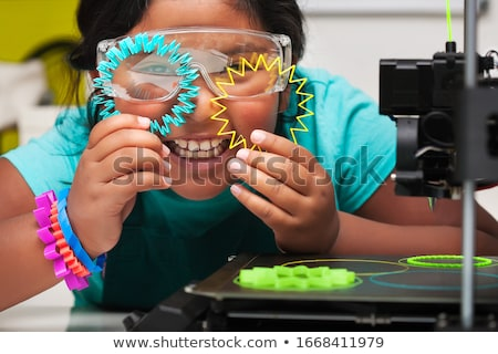 Ethnic student girl off to education class Stock photo © darrinhenry