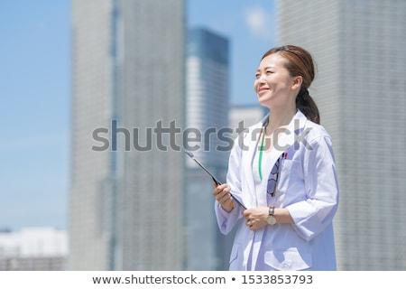 bella · femminile · medico · infermiera · appunti · isolato - foto d'archivio © Nobilior