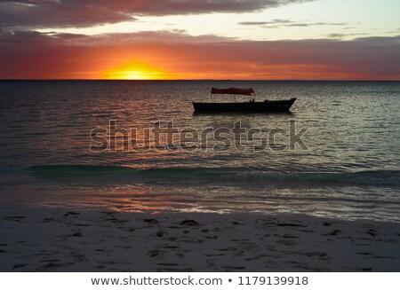 idyllic sundown in Zanzibar Stock photo © prill