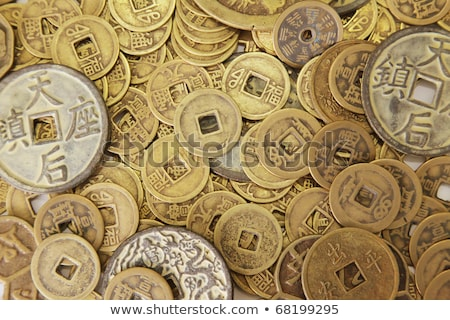 A Pile Of Old Chinese Coins Foto stock © kentoh