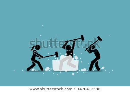 Woman with large hammer Stock photo © photography33
