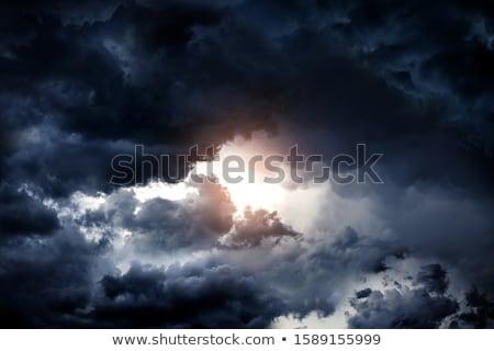 Stock fotó: Rámai · viharfelhők · a · nappal