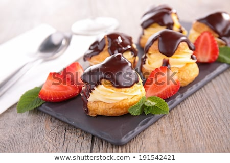 french pastry choux profiterole stock photo © m-studio
