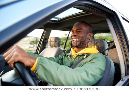 Fiatal afroamerikai férfi mosolyog kívül jóképű Stock fotó © christinerose81