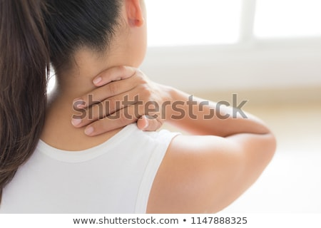 woman with neck pain stock photo © photography33