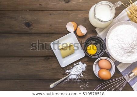 diferente · ingredientes · tabela · mesa · de · madeira · comida - foto stock © juniart