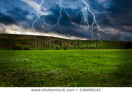 Thunder and lightning in the field. Stock photo © justinb
