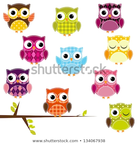 Stock photo: toy owl in a tree