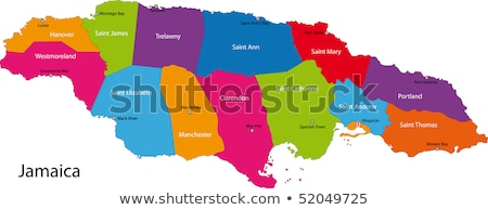Mapa colores Jamaica ilustración bandera arte Foto stock © perysty