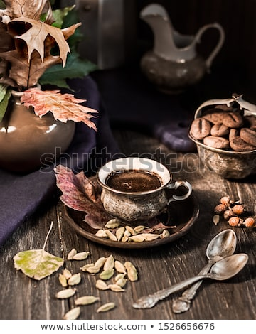 naturaleza · muerta · cosecha · decoración · acción · de · gracias · calabazas · nueces - foto stock © stevanovicigor
