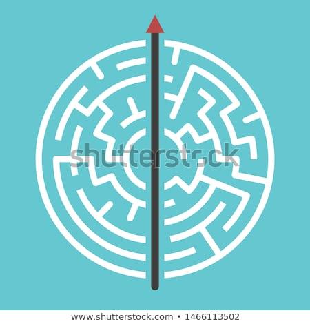 エンドレス · 迷路 · 迷路 · ビジネス · パターン - ストックフォト © experimental