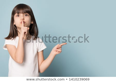 Brunette asking for quiet Stock photo © photography33