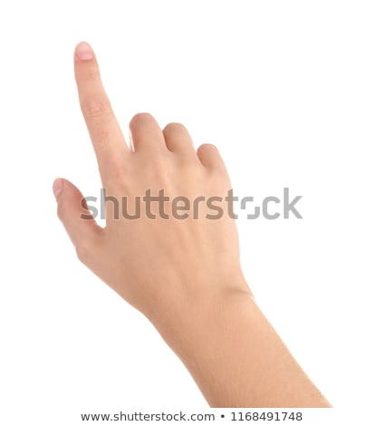 Stock photo: woman fingers