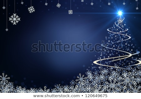 grungy christmas card with decorations stock photo © wad