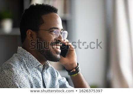 Stockfoto: Zakenlieden · roepen · smartphone · handen · mensen · die · kantoor