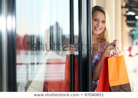 Sarışın kadın dışarı elbise alışveriş iş Stok fotoğraf © photography33