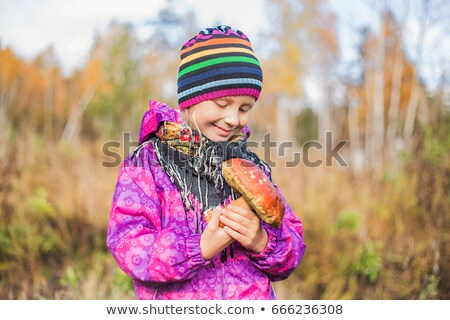 Blonde girl with mushrooms Stock photo © photography33