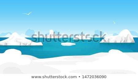 buz · okyanus · mavi · deniz · kar · soğuk - stok fotoğraf © timwege