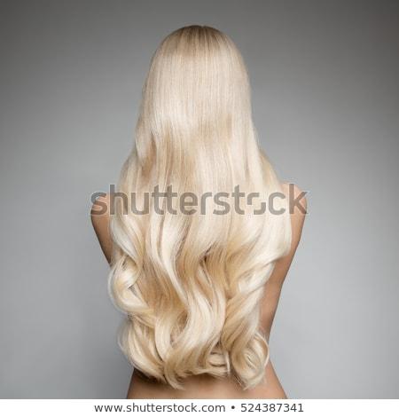 hát · hosszú · haj · gyönyörű · lány · nő · divat · fiatal - stock fotó © acidgrey