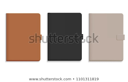 Brown black memo book isolated on white background Stock photo © shutswis