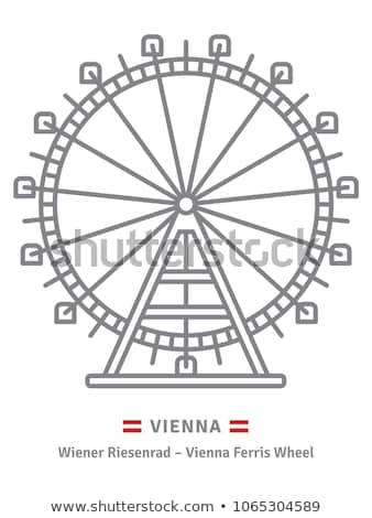 Wenen · icon · stad · mail · Europa · scratch - stockfoto © Myvector