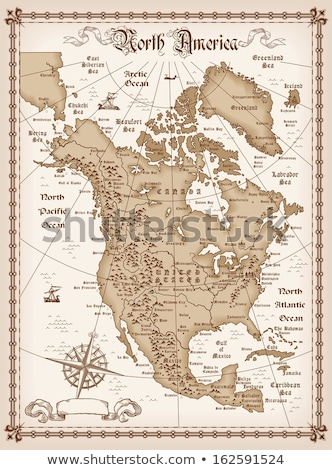 compass and map North America stock photo © Zhukow
