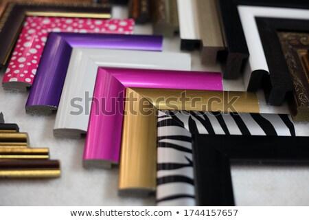 resim · çerçevesi · renkli · arka · plan · alışveriş · depolamak - stok fotoğraf © obscura99
