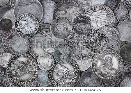 Vintage zilver munten oude witte as Stockfoto © tab62