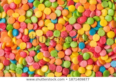 Donut glazuursuiker witte achtergrond eten Stockfoto © wavebreak_media