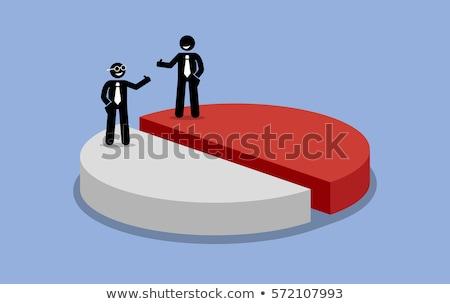 Gelijk partners zakelijke relatie groene rode appel vorm Stockfoto © Lightsource