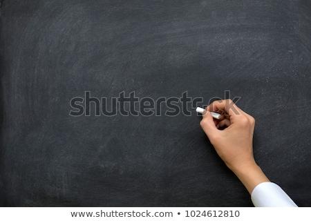 ír · tábla · tanár · osztályterem · képzés · fehér - stock fotó © pressmaster