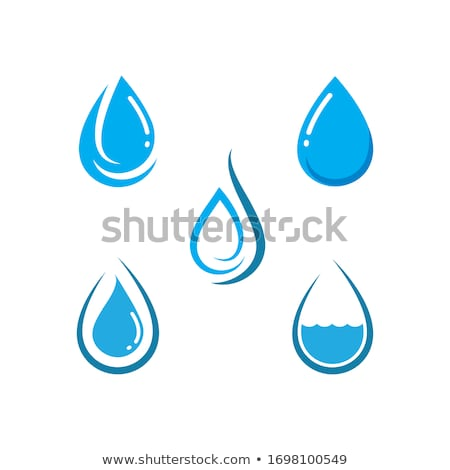 green leaves and blue water drop Stock photo © Grazvydas