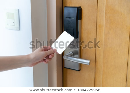 Electronic card hotel door system Stock photo © ifeelstock