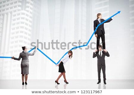 people climb business arrow Stock photo © 4designersart