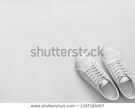 Witte trainers paar kinderen Rood Stockfoto © trgowanlock
