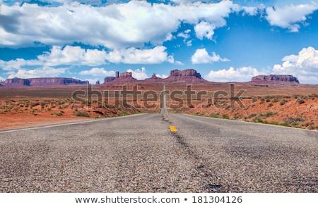 Valle paisaje vegetación nubes azul naturaleza Foto stock © snyfer