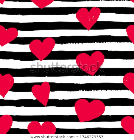 set of vector hearts on black background stock photo © elisanth